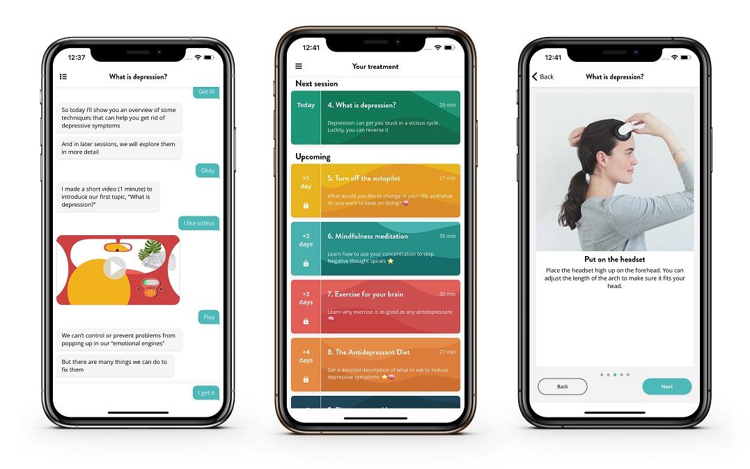 Appen är gratis och erbjuder användare dagliga chat-konversationer och självhjälpstekniker, regelbundna symptomskattningar, kuraterade videofilmer och mentala övningar.