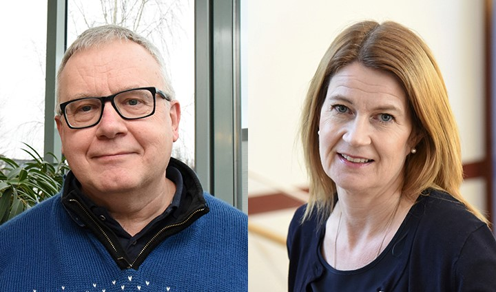 Mats Eriksson och Karin Blomberg är båda professorer i omvårdnadsvetenskap vid Örebro universitetet. Foto: Örebro universitet
