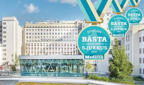 För Norrlands universitetssjukhus (Nus) i Umeå är det andra året i rad som de kan stoltsera med förstaplatsen.