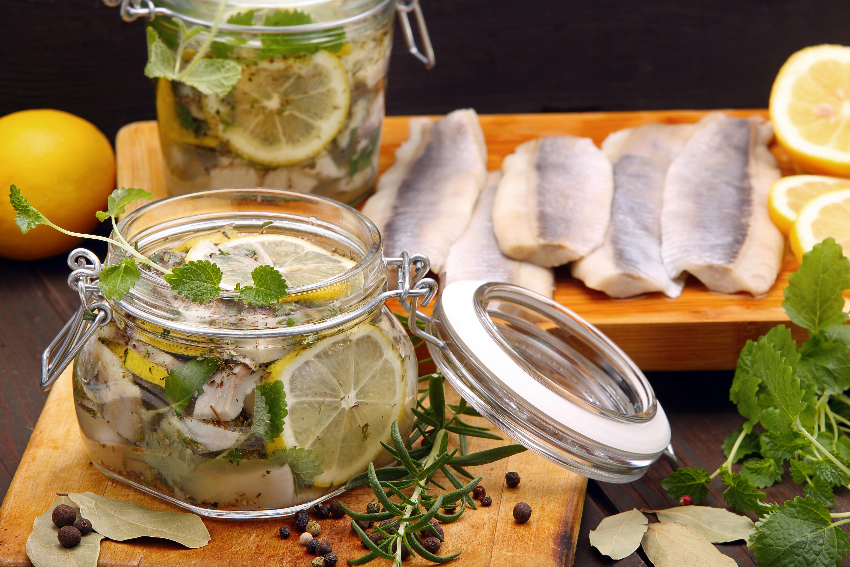 Sill med ingefära och citron