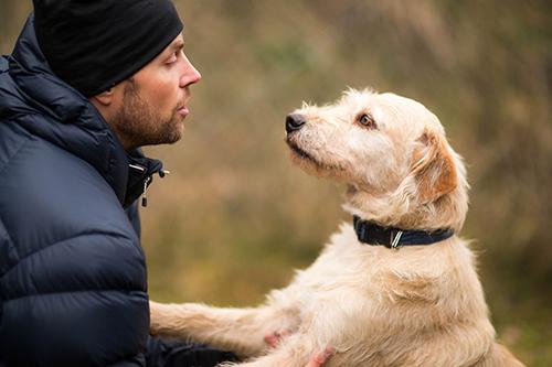 Mikael Lindnord ångrar inte en sekund att han följde magkänslan och lät Arthur följa med hem ända till hemmet i Örnsköldsvik. Foto: Krister Göransson