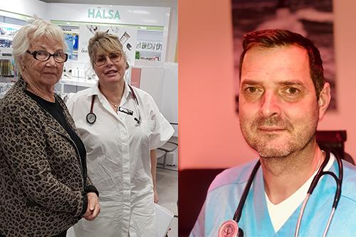 T.v. Ulla Bonnevier och Helen Lejtzen, allmänläkare i Växjö T.h. Kenneth Mier, överläkare och kardiolog på Thoraxcentrum i Karlskrona.