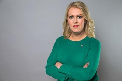 """""""Informationen måste bli tydligare och spridas smidigare"""" säger socialminister Lena Hallengren (S). Foto: Kristian Pohl/Regeringskansliet"""
