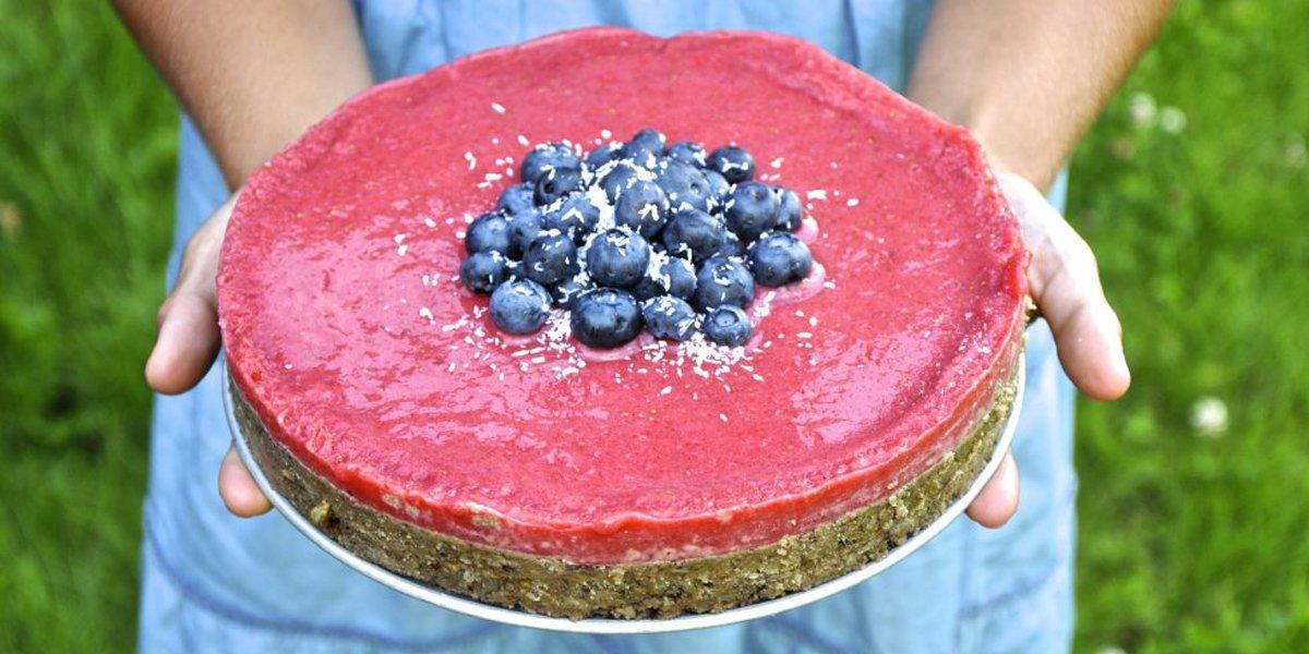 Raw food-tårta till Mors dag!