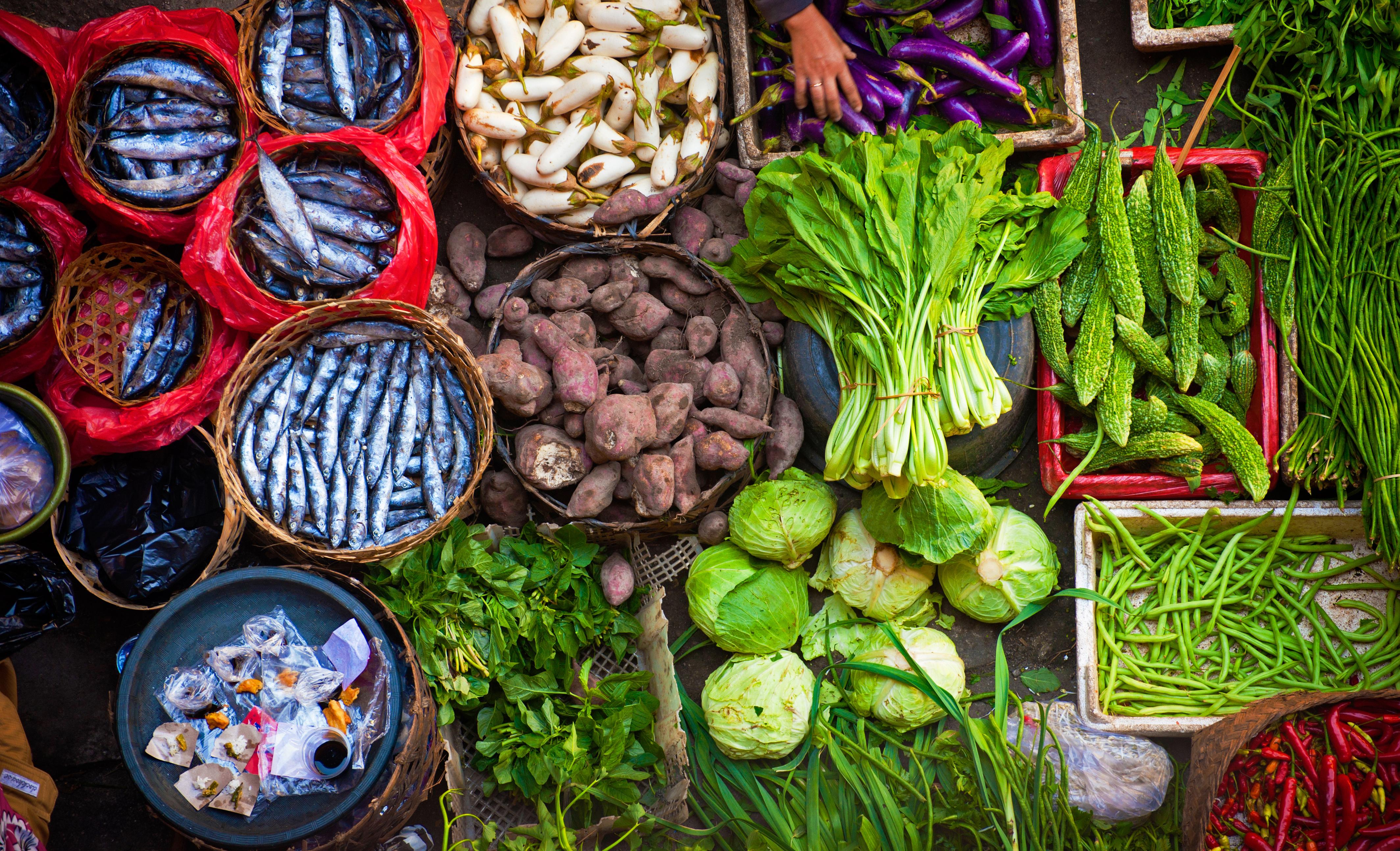 Deltagare som åt en vegetarisk kost kombinerat med fisk löpte hela 43 procent mindre risk att insjunkna i tjocktarmscancer.