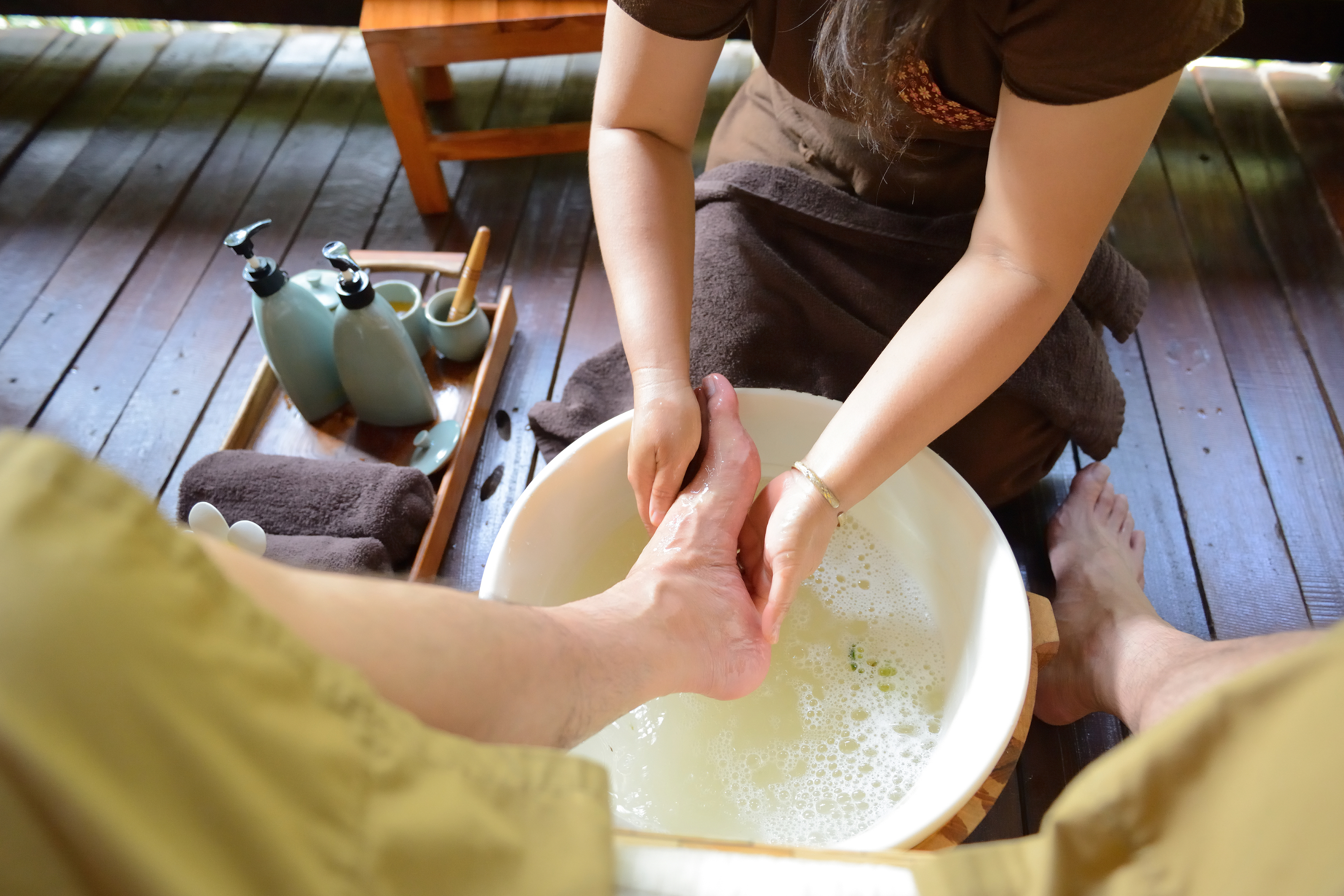 Deltagarna i studien kunde välja på fot- eller handmassage.