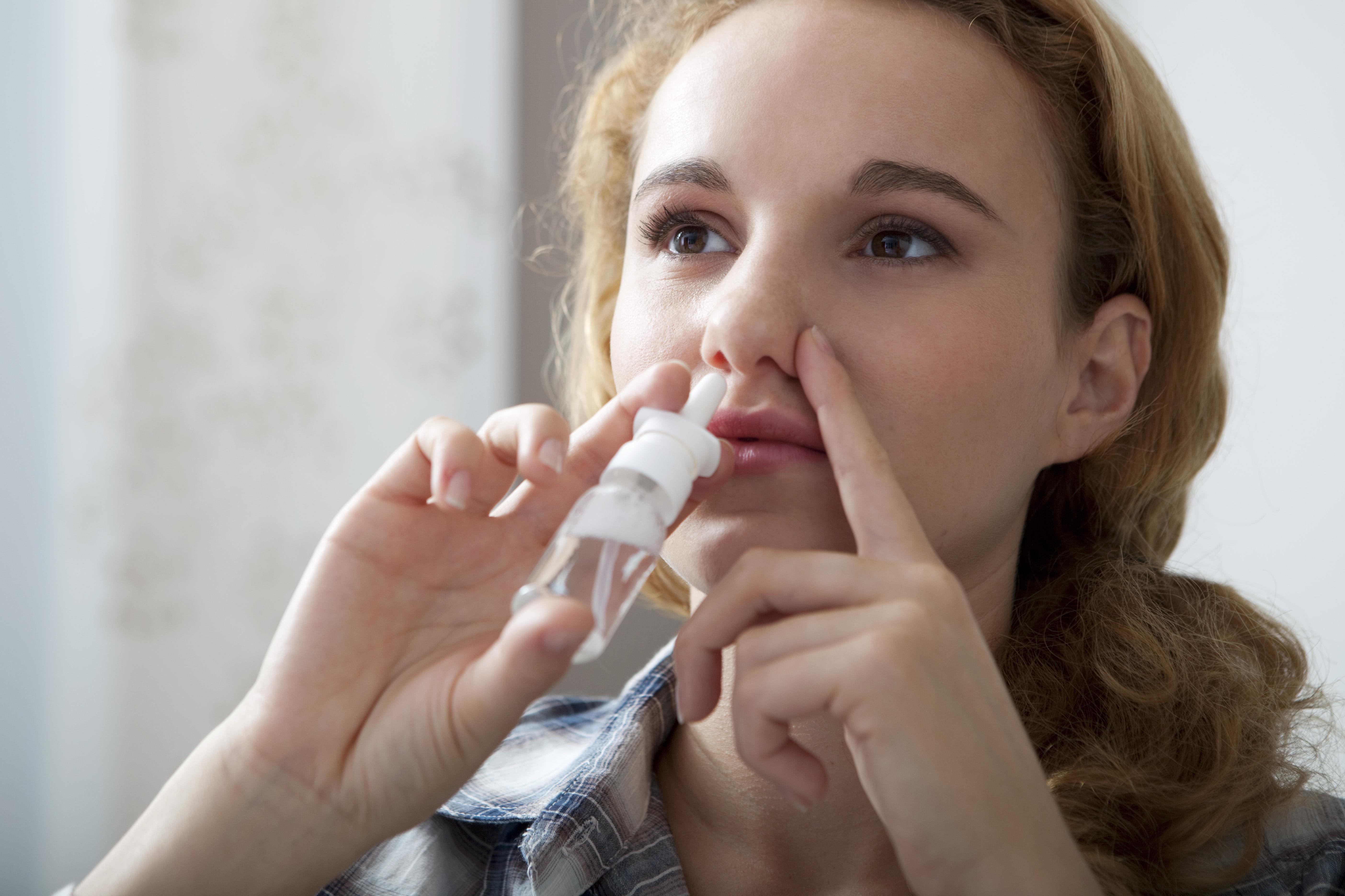 täppt näsa pollen