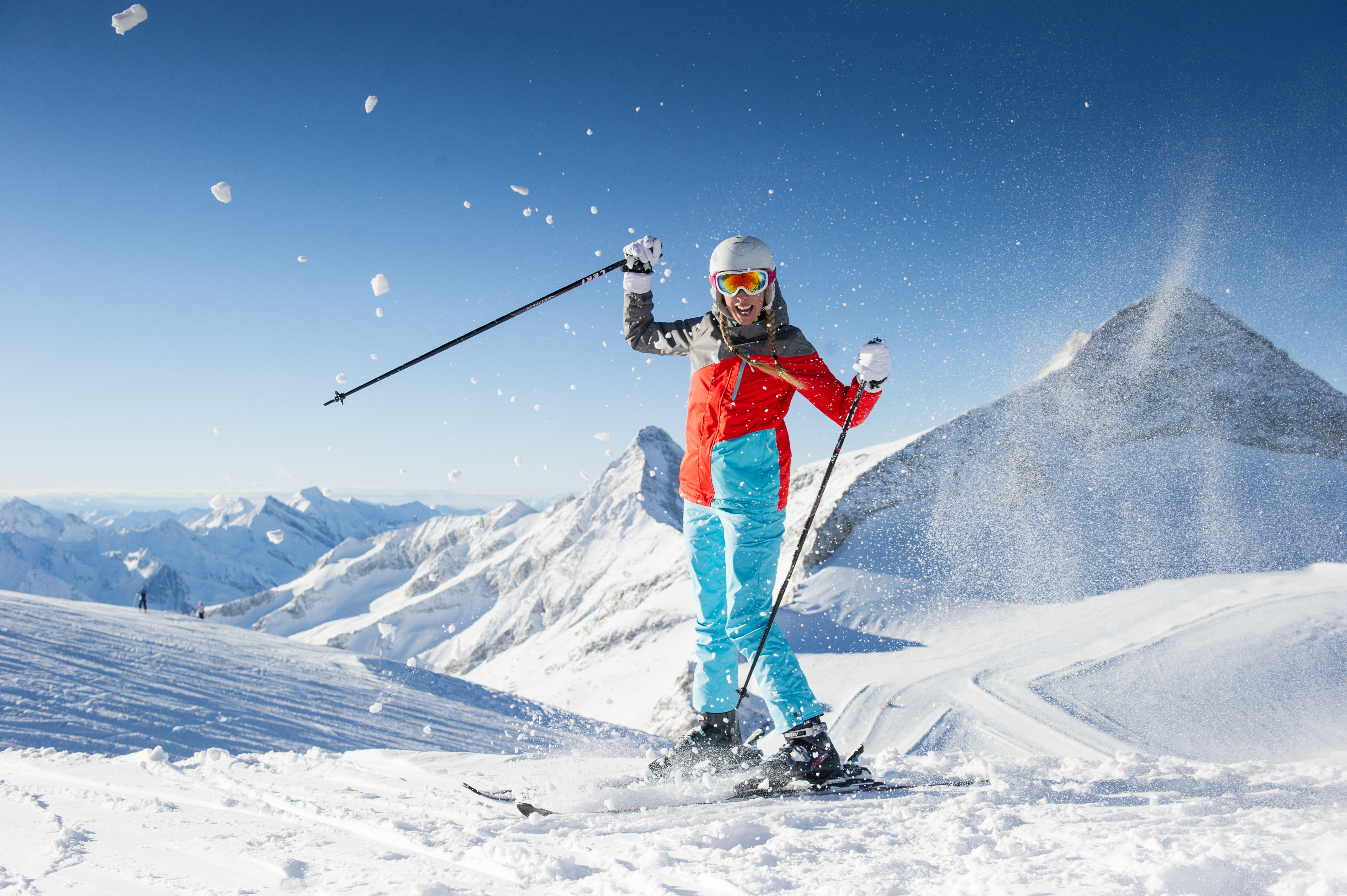 Snön reflekterar 80 procent av solens UV-strålning.