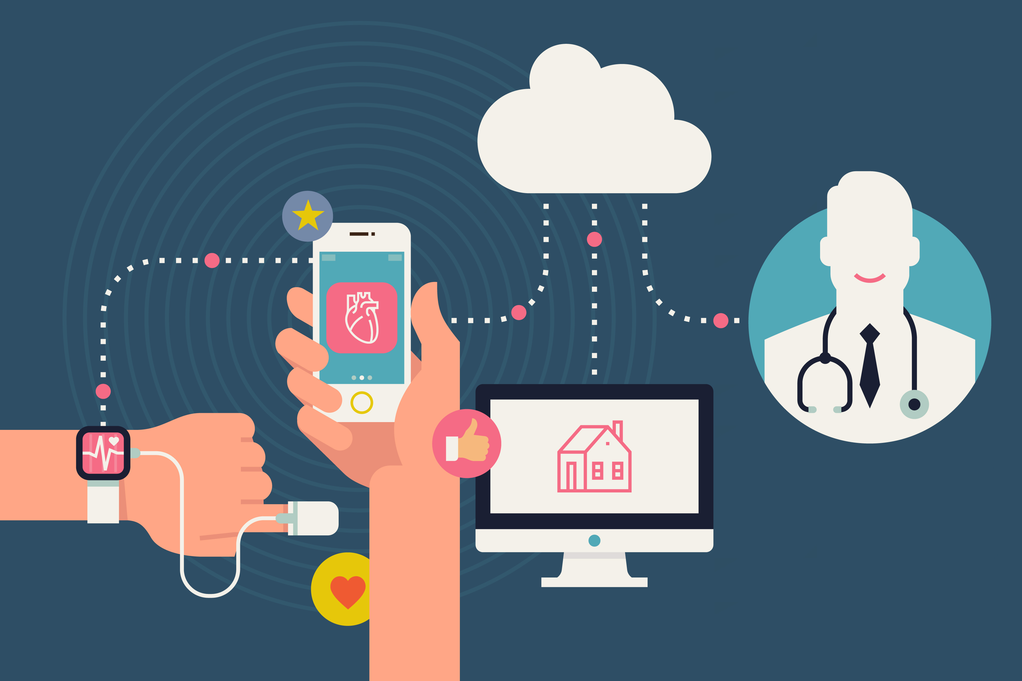 Den digitala vården innefattar många delar, där tekniken är en av de viktigaste.