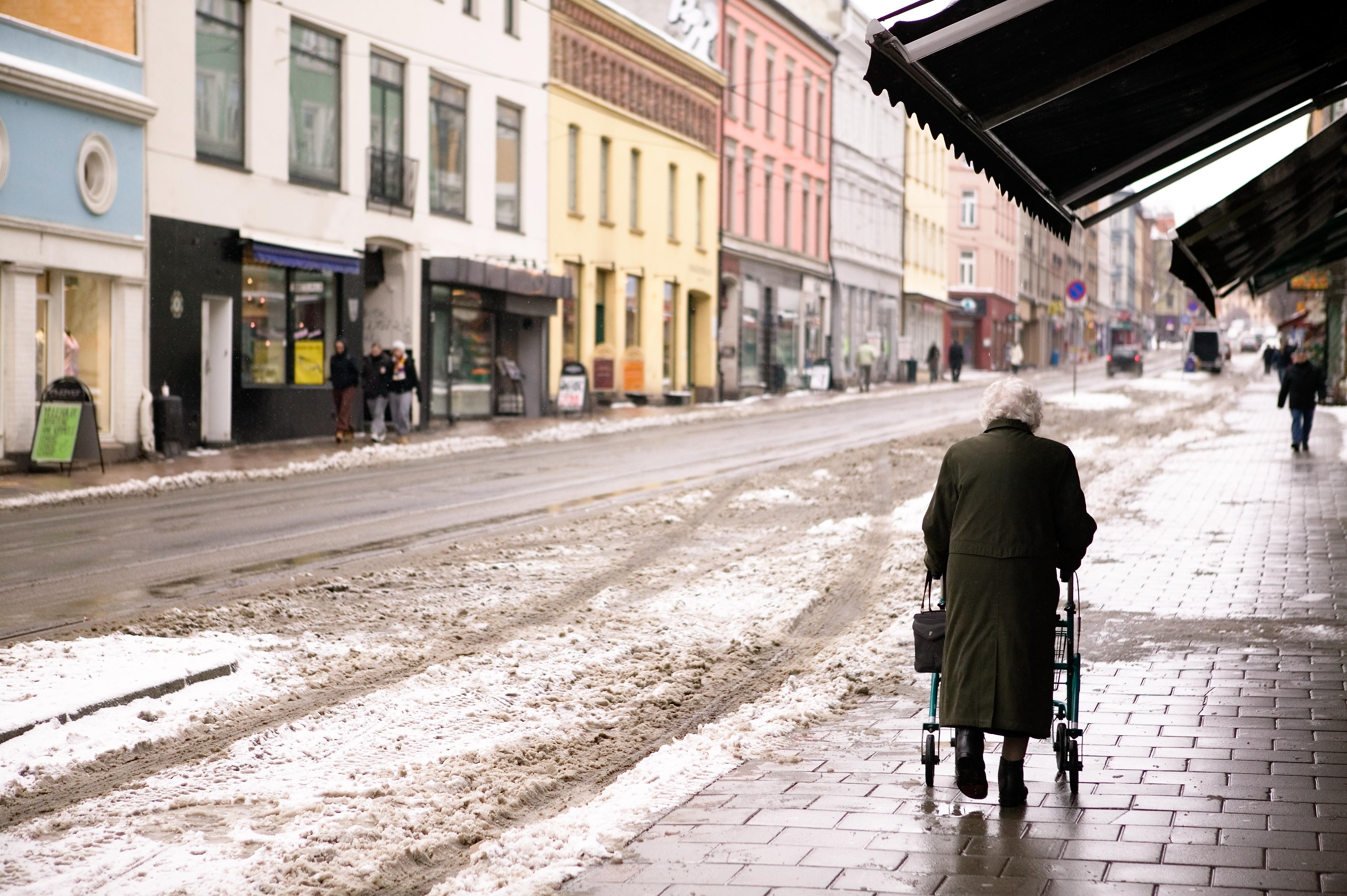 I forskningsstudien från Lunds Tekniska Universitet svarade 70 procent att de upplever någon form av oro kring att ramla.