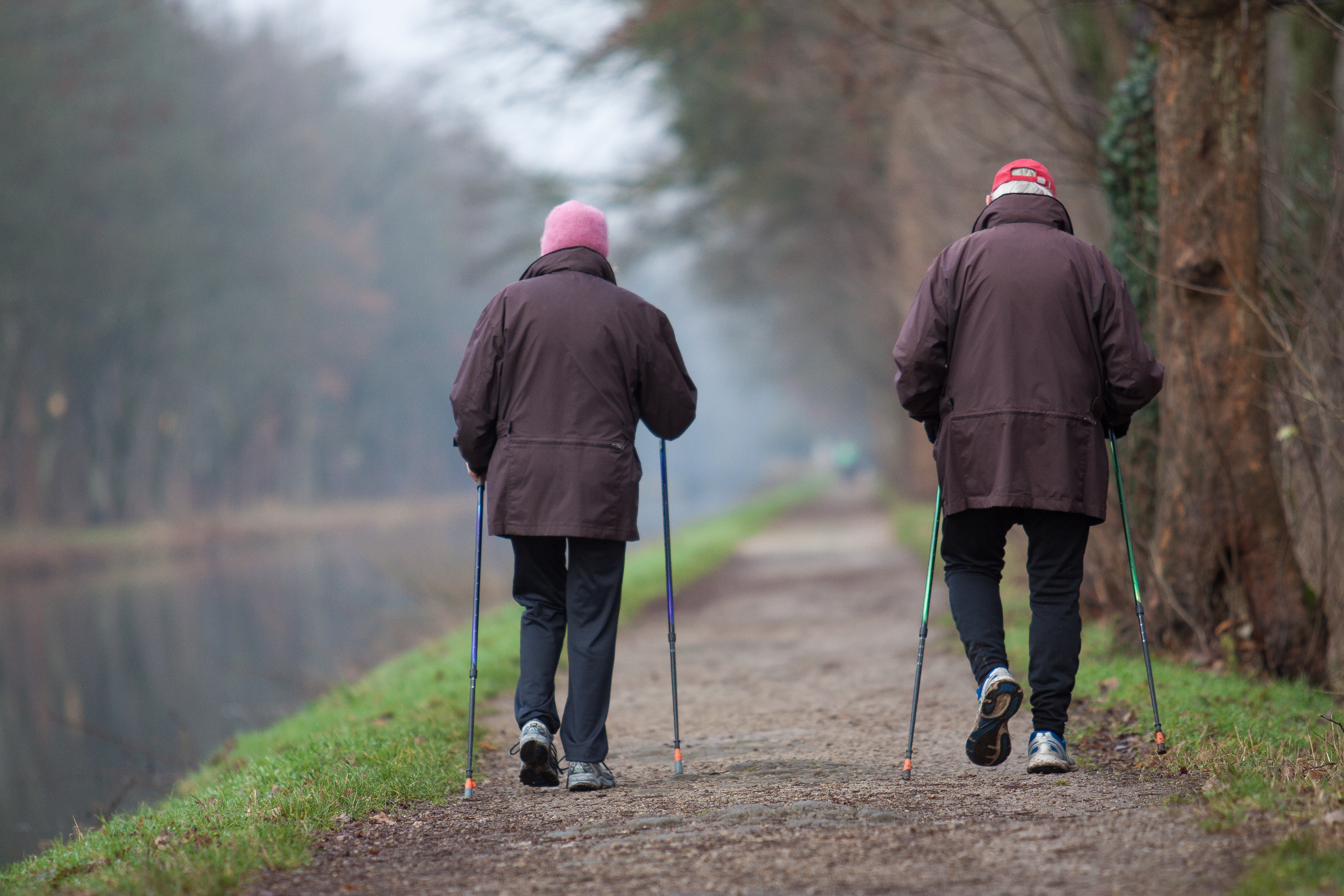 Risken för död i relation till olika blodtrycksnivåer skiljde sig mellan grupper med olika gånghastigheter