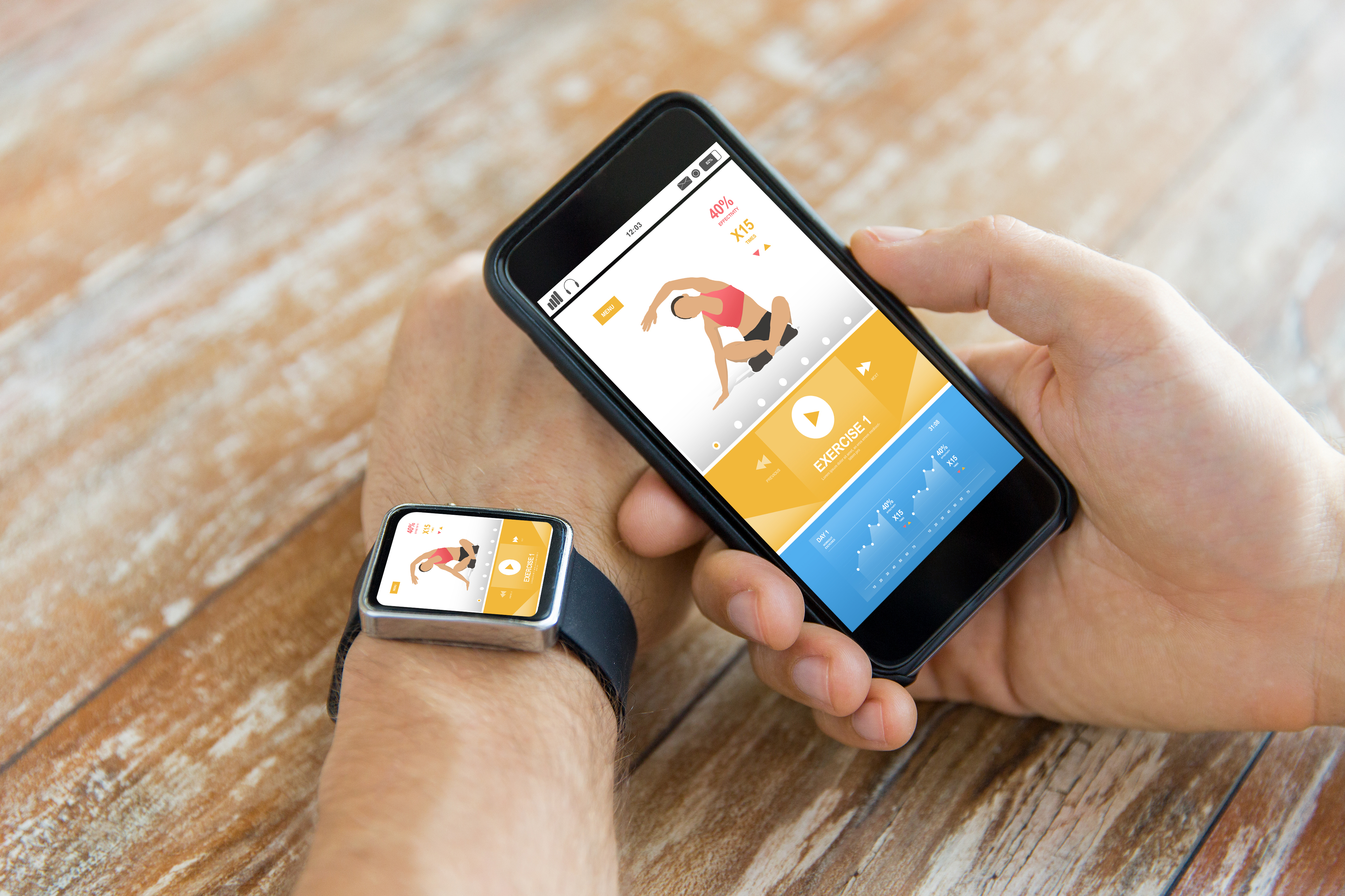 För dem som har svårt att ta sig till gymmet kan man även få visuella klasser via sin smartphone, för träning hemma.