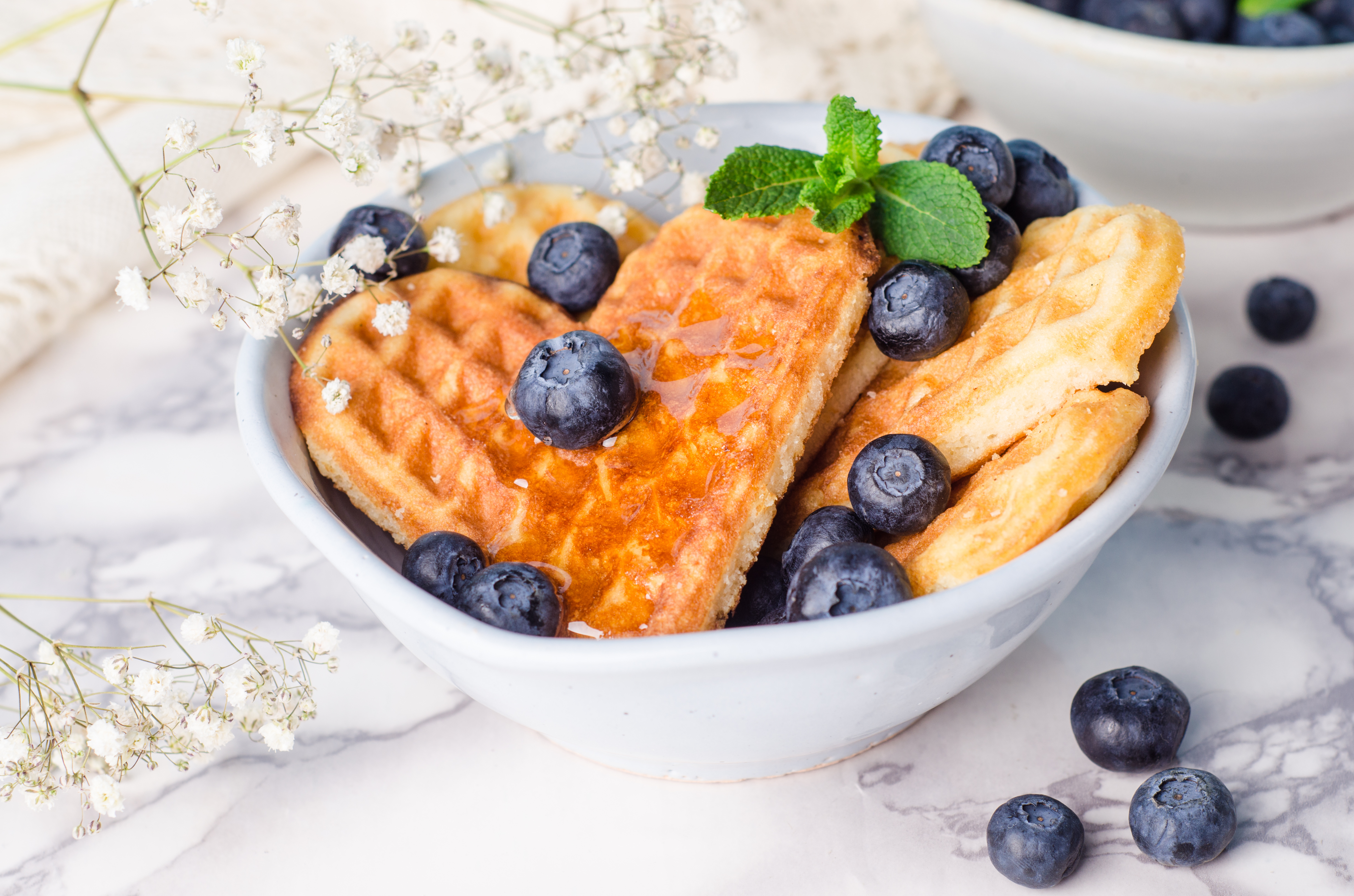 Gluten- och laktosfria våfflor