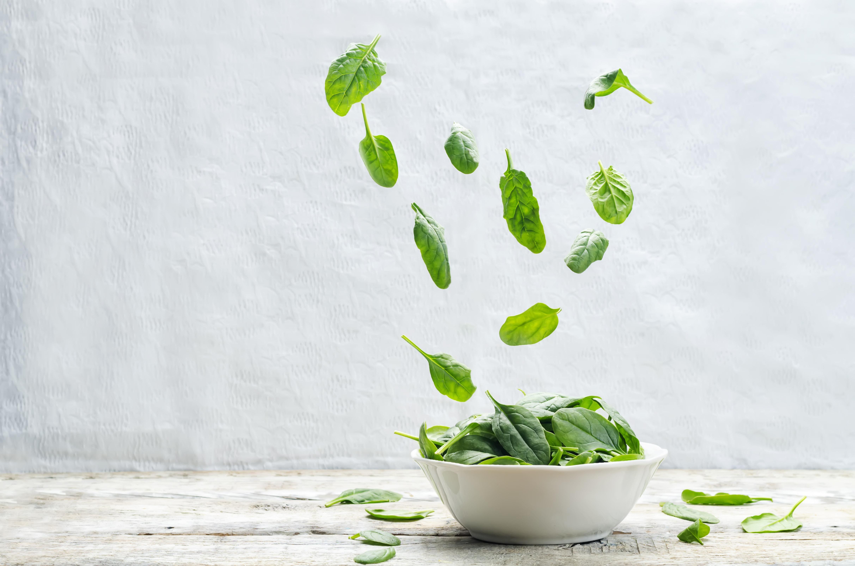 Det krävs endast ca 200 gram spenat per dag  för att få en skyddande effekt.