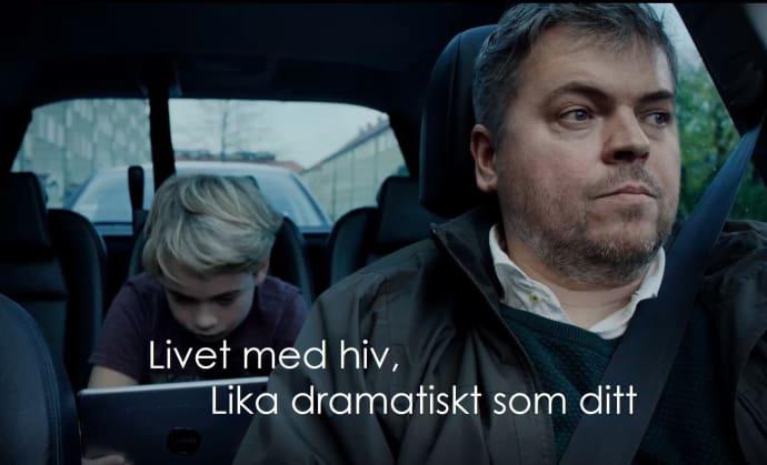 """""""Livet med hiv i Sverige är för många ett vanligt liv, med en ovanlig sjukdom, men hiv behöver inte längre vara ett hinder för någon i livet."""""""