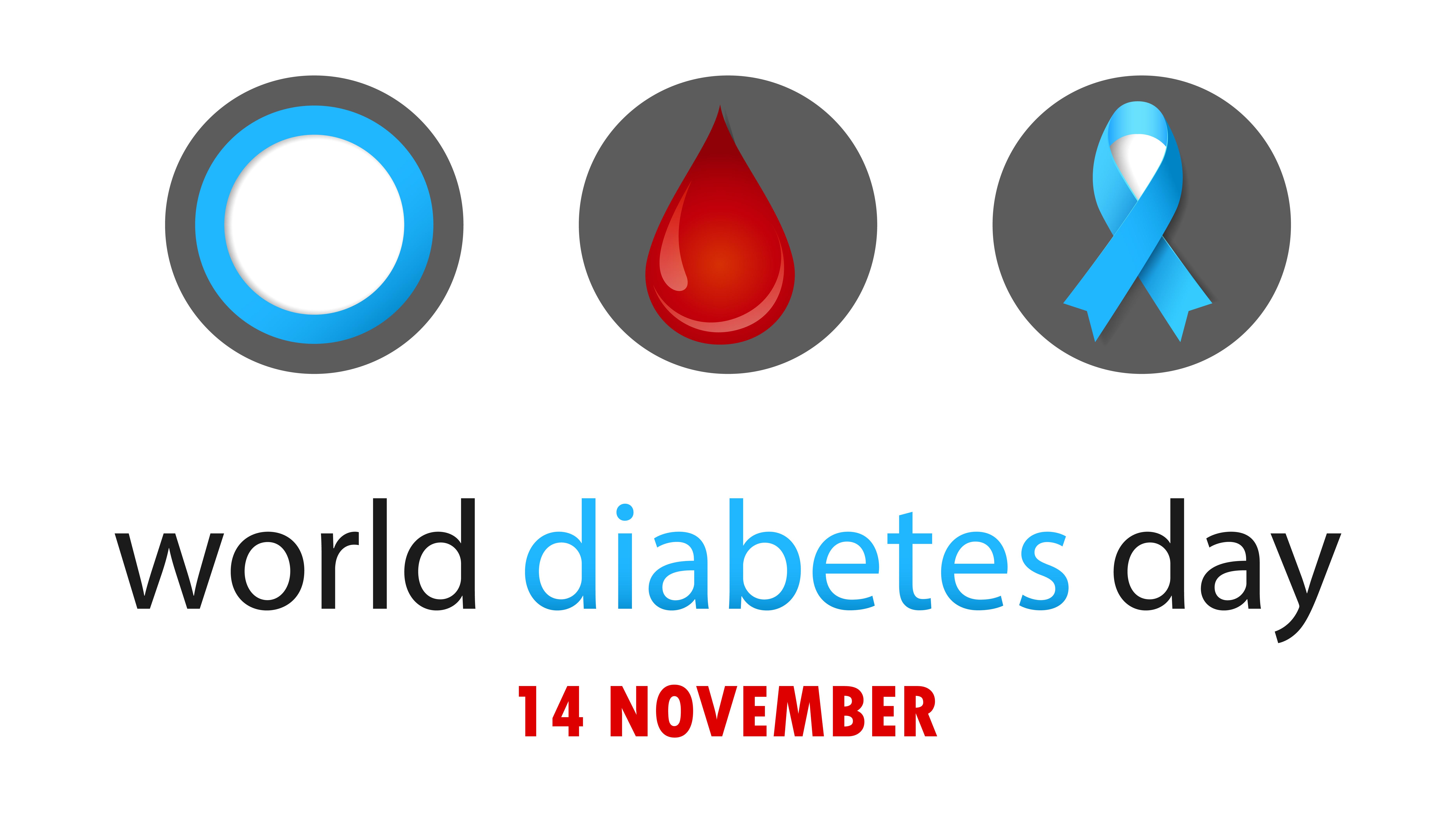 Den blå ringen är sedan 2007 den officiella logotypen för Världsdiabetesdagen.