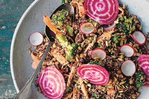 veckans recept Krämig quinoasallad mat för IBS-magar Lugn mage med grön mat Sofia Antonsson Foto_Ulrika Pousette.jpg