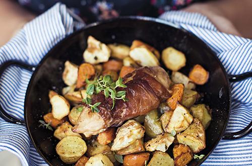 veckans recept anders åker sofia antonsson belly balance Kyckling balsamico med parmaskinka och rotsaker kopiera.jpg